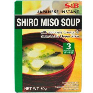 мека ароматизирана бяла мисо супа